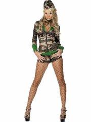 militær kostume til kvinder - medium - Udklædning Til Voksne