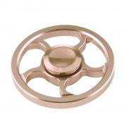 rund fidget spinner i metal - guld - Diverse