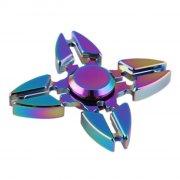 fidget spinner aluminium - fire blade - rainbow - Diverse
