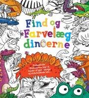 find og farvelæg dinoerne - bog