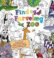 find og farvelæg dyrene i zoo - bog