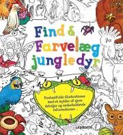 find og farvelæg jungledyr - bog