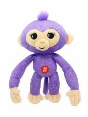 fingerlings abe bamse - 25 cm - lilla glitter - Interaktiv