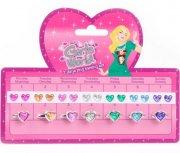 prinsesse smykker sæt - fingerringe og øreringe til børn - Udklædning