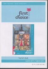first choice for tredje lærere-cd - kun til gammel udgave - bog