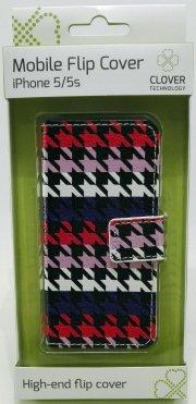 iphone 5/5s flip cover - mønster - clover - Mobil Og Tilbehør