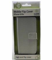 iphone 6/6s - flip cover - hvid - clover - Mobil Og Tilbehør