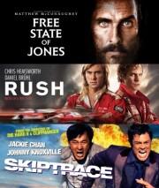 free state of jones // rush // skiptrace - DVD