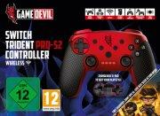 gamedevil switch trident pro-s2 controller wireless - rød - Konsoller Og Tilbehør