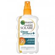 garnier - ambre solaire - clear protect sol spray 200 ml - spf 20 - Hudpleje