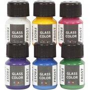 glasmaling - glass color frost - 6x35ml - Kreativitet