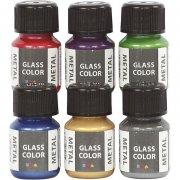 glasmaling - glass color metal - 6x35ml - Kreativitet