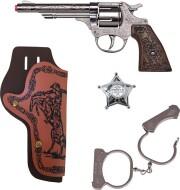 gohner cowboy sæt - 4 dele - Legetøjsvåben