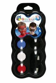 ansigtsmaling til superhelte kostume - 4 farver - grim tout - Udklædning