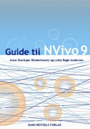 guide til nvivo 9 - bog