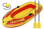 gummibåd med årer og pumpe - Bade Og Strandlegetøj
