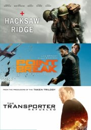 hacksaw ridge // point break // the transporter refueled - DVD