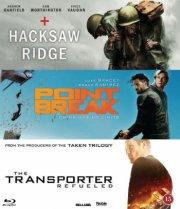 hacksaw ridge // point break // the transporter refueled - Blu-Ray