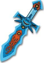 skumsværd med hajmotiv - 36 cm - Legetøjsvåben
