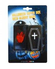 halloweenpynt blodig hånd i kiste - Diverse