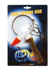 halloweenpynt - kniv gennem hovedet - Diverse