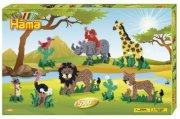 hama perler i gaveæske - safari dyr - 5.000 stk + 5 perleplader - Kreativitet