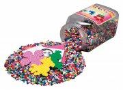 hama midi perler med perleplader - 16.000 stk - gul - Kreativitet