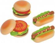 hape legetøjsmad - hamburgers og hotdogs - Rolleleg