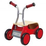 gåvogn / gåbil til baby - rød racer - hape - Motorik