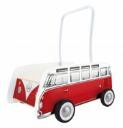 gåvogn / gåbil til baby - rød bus - hape - Babylegetøj