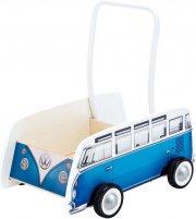 gåvogn / gåbil til baby - blå bus - hape - Babylegetøj