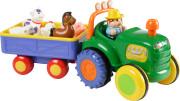 happy baby legetøjs traktor med vogn og dyr - Babylegetøj