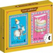 spillekort med h.c. andersen motiv - 2 pakker - Brætspil
