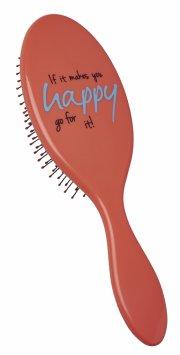 hh simonsen hårbørste - the wet brush med citat - fersken - Hårpleje