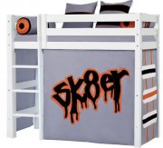 hoppekids forhæng til mellemhøj seng - 70 x 160 cm - skater - Til Boligen