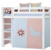 hoppekids forhæng til mellemhøj seng - 70 x 160 cm - indian girl - Til Boligen