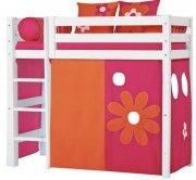 hoppekids forhæng til mellemhøj seng - 70 x 160 cm - flower power - Til Boligen