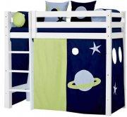 hoppekids forhæng til mellemhøj seng - 70 x 160 cm - space - Til Boligen