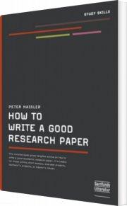 how to write a good research paper - bog
