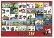 hr. skæg abc / alfabet plakat - Til Boligen