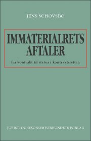 immaterialretsaftaler - fra kontrakt til - bog