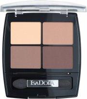 isadora øjenskyggepalette - eye shadow quartet - muddy nudes - Makeup