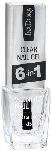neglelak - isadora - clear nail gel 6in1 - Makeup