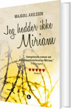 jeg hedder ikke miriam - bog