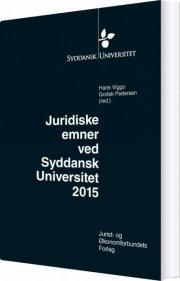 juridiske emner ved syddansk universitet 2015 - bog