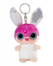 kanin bamse nøglering - tofflemoffle - 9 cm - Bamser