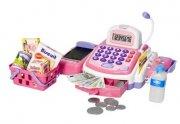 legetøjs kasseapparat / lege kasseapparat med tilbehør - pink - Rolleleg