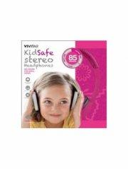 kidsafe stereo hovedtelefoner i pink - 85 db. - Tv Og Lyd
