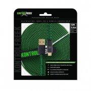 kontrolfreek usb 2.0 gaming kabel - 3,6 meter i grøn/sort - Kabler