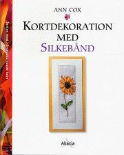 kortdekoration med silkebånd - bog